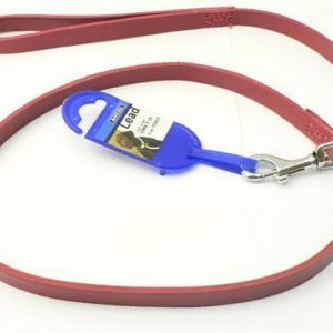 """Ancol Red Leather Lead (1/2"""" x 40"""" long)"""