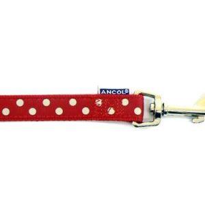 Polka Dot Lead Red
