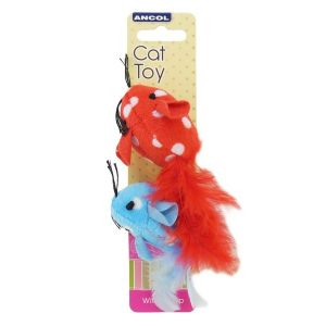 Ancol Polka Mouse Cat Toy 13cm