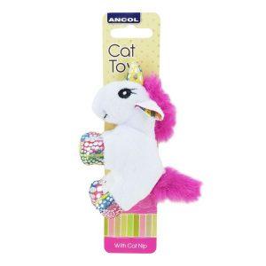 Ancol Unicorn Batter Cat Toy With Catnip 13cm