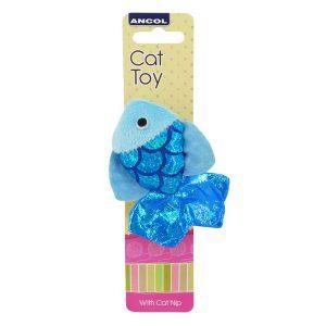 Ancol Glitter Fish Cat Toy 10cm