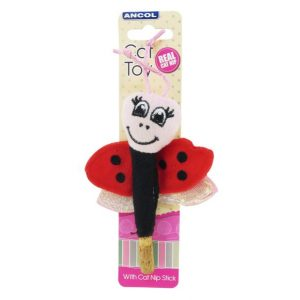 Ancol Catnip Ladybird/Dragonfly/Butterfly Cat Toy