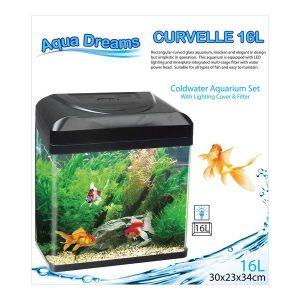 Aqua Dreamscapes Curvelle Coldwater Aquarium 16 Litre