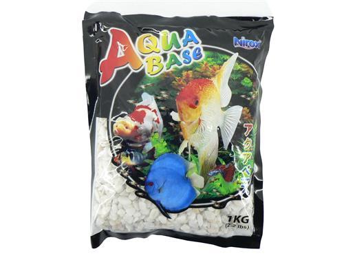 Aquabase White aquarium gravel 5kg