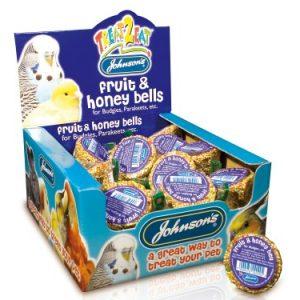 Johnsons Budgie & Parakeet Fruit & Honey Seed Bells