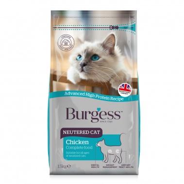 Burgess Neutered Cat Chicken Complete 1.5kg