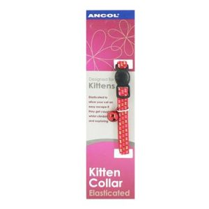 REFLECTIVE SOFTWEAVE CAT COLLAR RED