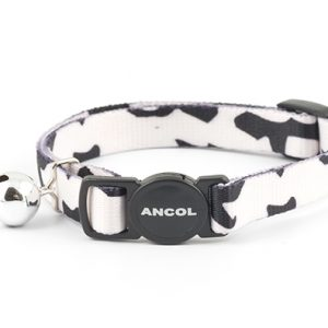 Cat Collar Black and White Camoflauge