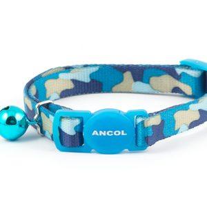 Cat Collar Blue Camoflauge