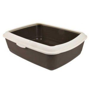 Chanelle Cat litter tray with rim (37cm x 15cm x 47cm)