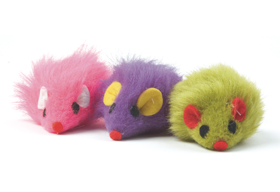 Furry Mice Cat Toy 1 Piece