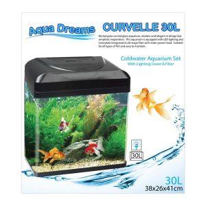 Aqua Dreamscapes Curvelle Coldwater Aquarium 30 Litre
