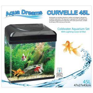 Aqua Dreamscapes Curvelle Coldwater Aquarium 45 Litre