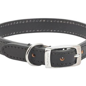 Leather Collar Black Size 5 20 inch