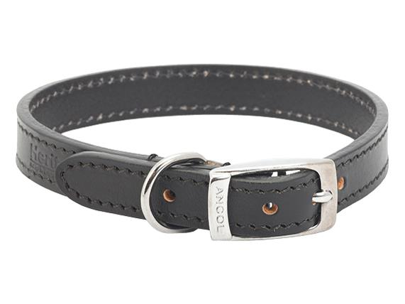 Leather Collar Black Size 3 (16 inch)