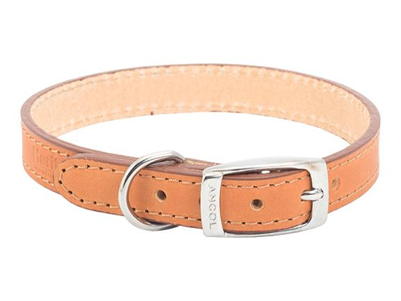 Leather Collar Tan Size 5 20 inch