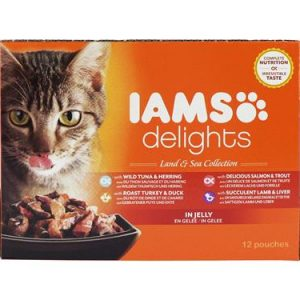 Iams Cat Delights Land and Sea Jelly 12 Pack