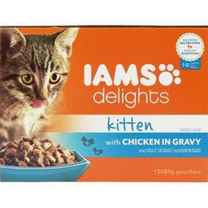 Iams Cat Delights For Kitten Chicken Gravy 12 Pack
