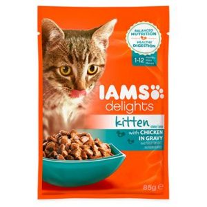 Iams Cat Delights For Kitten Chicken Gravy Single Sachet