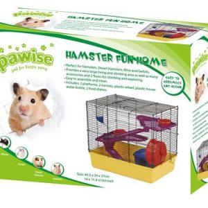 Pawise hamster fun home 2 storey large