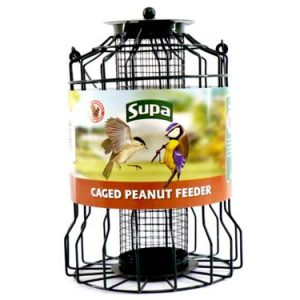 SUPA WILD BIRD CAGED PEANUT FEEDER