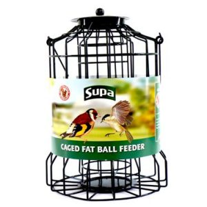 SUPA WILD BIRD CAGED FAT BALL FEEDER