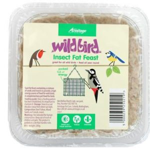 Wild Bird Fat Feast Tray Insect Flavour